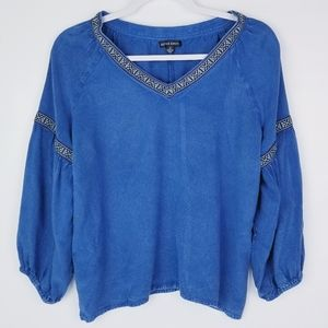 Style Envy Soft Loose Fitting Peasant Top EUC!